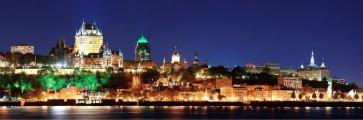 Quebec City - Chateau Frontenac At Dusk