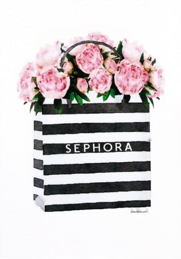 Amanda Greenwood - Bag with Soft Pink Peony