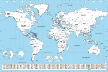 World Map - Colour In