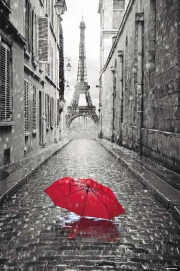 Paris - Red Umbrella