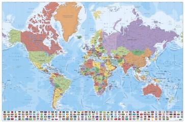 Carte du monde - Français