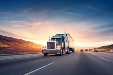American Style Truck on Freeway