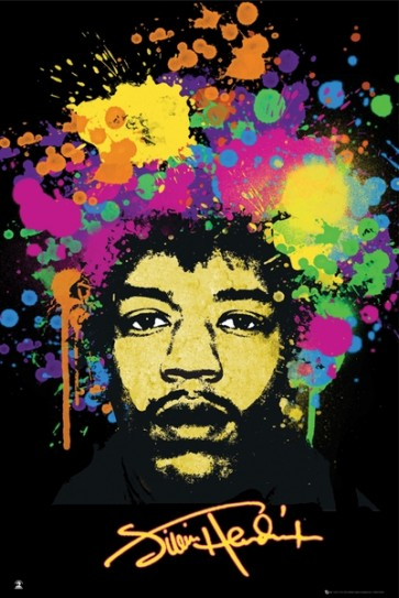 Jimi Hendrix Hair Paint
