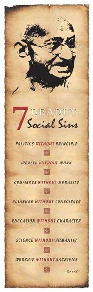 Gandhi - Deadly Social Sins