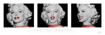 Marilyn Monroe - (Red Dress Triptych)