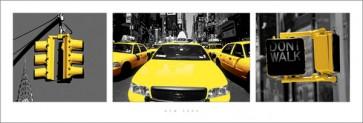New York - (Yellow Triptych)