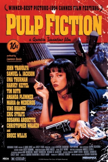 Pulp Fiction - Uma On Bed