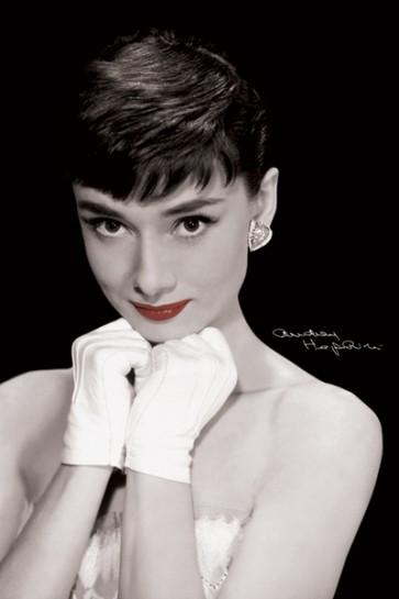 Audrey Hepburn - (Red Lips)