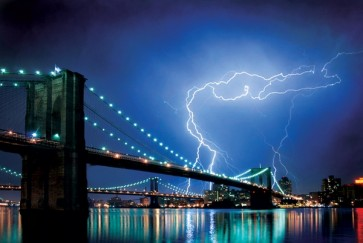New York - Brooklyn Bridge - (Lightning)