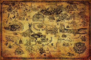 The Legend of Zelda - Hyrule Map