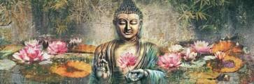 Buddha And Lotus Flowers