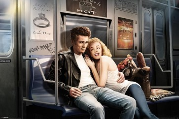 JJ Brando - Marilyn Monroe and James Dean in the New York Subway