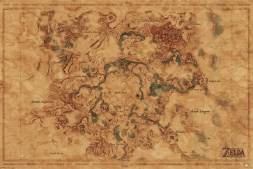 The Legend of Zelda - Breath of The Wild - Hyrule Map