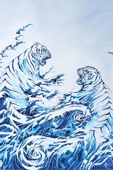 Marc Allante - The Crashing Waves - Hokusai Heritage