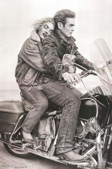 James Dean and Marilyn Monroe - Motorcycle Ride