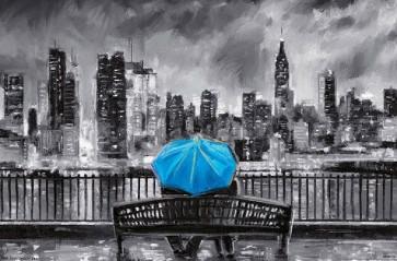 PD Moreno - Fine Art - Blue Umbrella