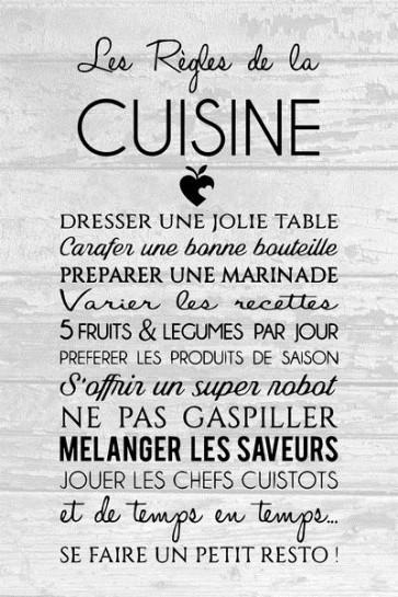 Les règles de la cuisine I