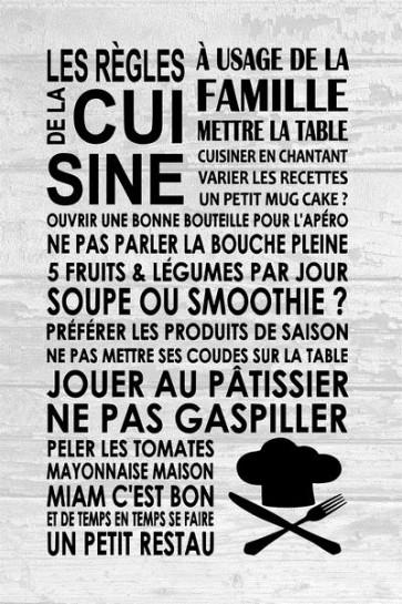 Les règles de la cuisine II