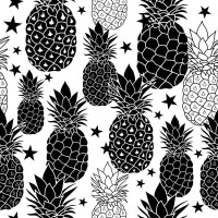 Pineapples - B&W