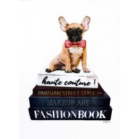 Amanda Greenwood - Book Stack Frenchie