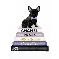 Amanda Greenwood - Bookstack Grey Frenchie