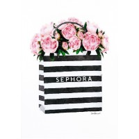 Amanda Greenwood - Bag with Soft Pink Peony