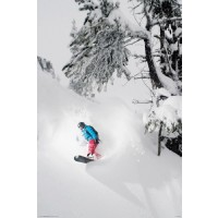 Snowboarding - Snowboarder Riding the White Wave