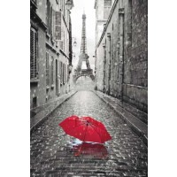 Paris - Red Umbrella
