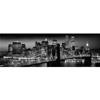 New York - Brooklyn Bridge Night Poster