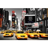 Times Square - Yellow cabs day