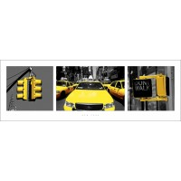 New York - (Yellow Triptych)