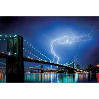 New York - Brooklyn Bridge - (Lightning)