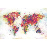 World Map - Color Splash
