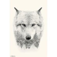 Spirit Animals & Trees - Wolf