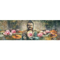 Buddha And Lotus Flowers