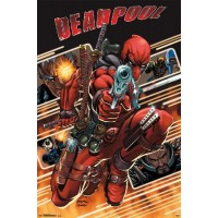 Marvel Comics - Deadpool - Attack Collage