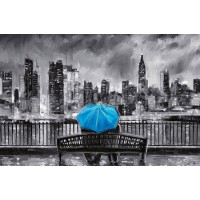 PD Moreno - Fine Art - Blue Umbrella