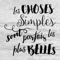 Les choses simples